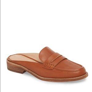 Madewell 'Elinor' Leather Loafer Mule Slides